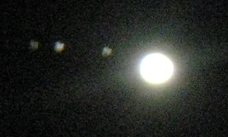 Jupiter and Galilean Moons - 14th Aug 2010