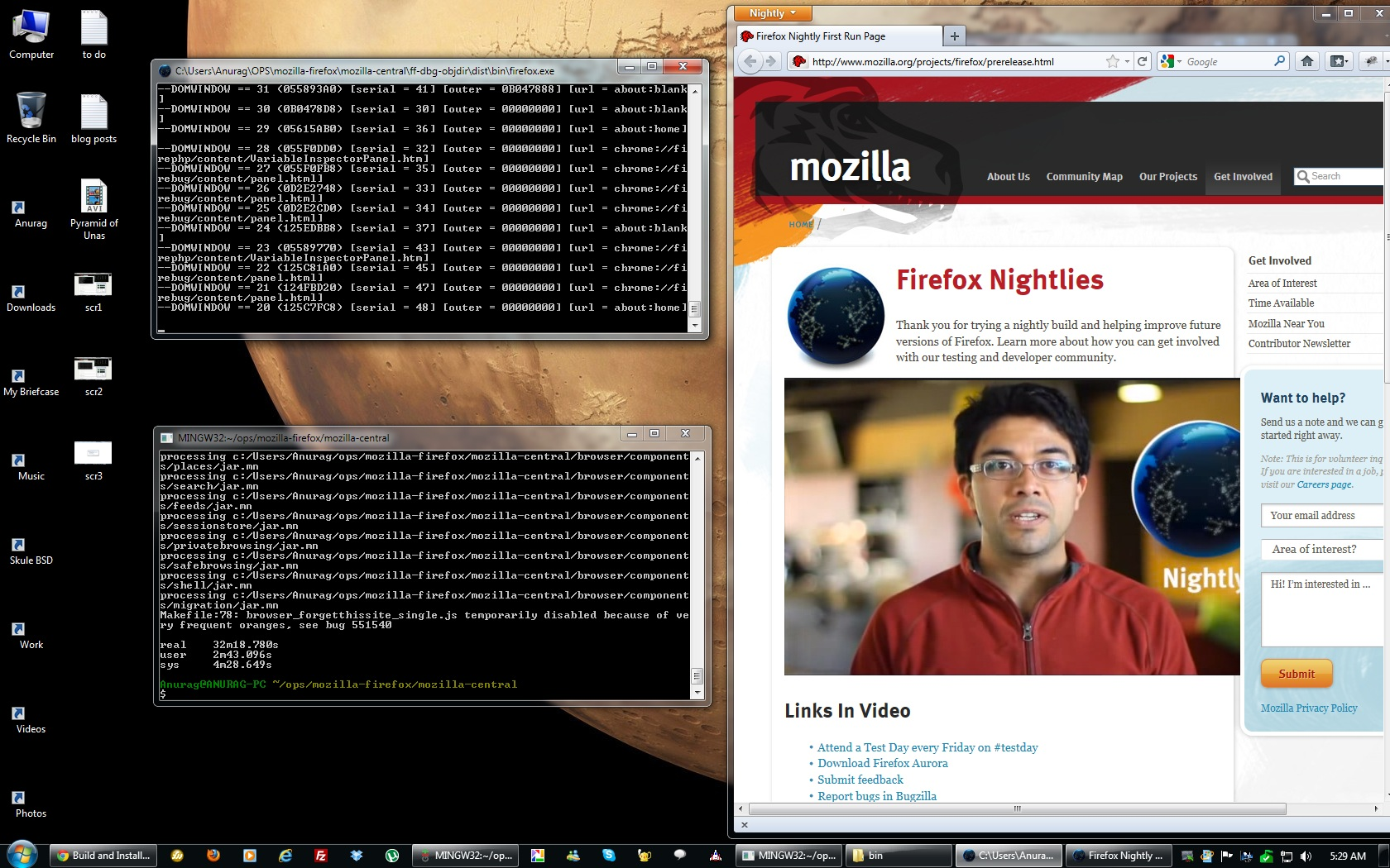 Firefox debug mode build